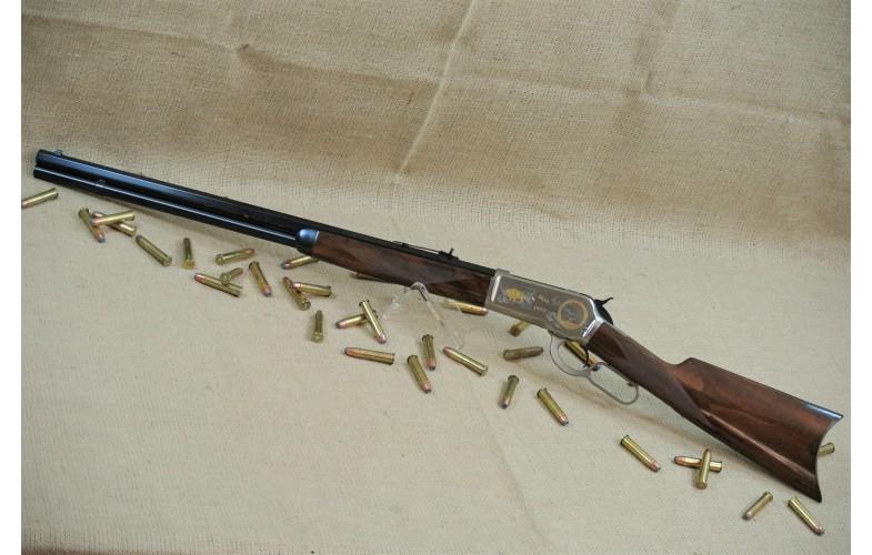 """"""" VERKAUFT """" Unterhebel-Repetierbüchse, Browning (Winchester Mod. 1886) Montana 1889-1989,  Kal. .45-70 Gov`t."""