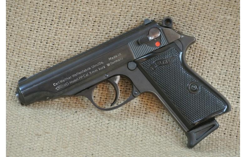 Halbautomatische Pistole, Walther Mod. PP, Kal. 9 mm kurz.