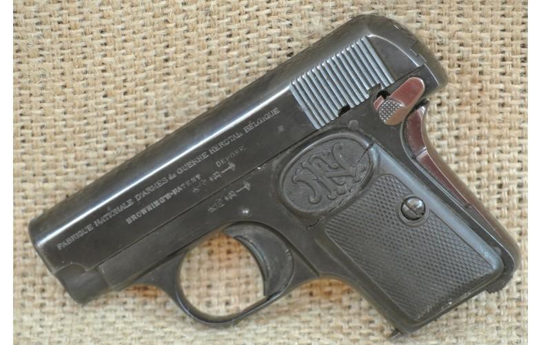 Halbautomatische Pistole, FN Mod. 1906 ,  Kal. 6,35 Browning.