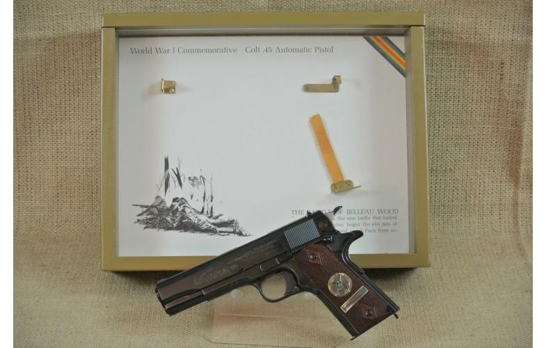 """ VERKAUFT "" Halbautomatische Pistole Colt, Mod. 1911 Commemorative BATTLE OF BELLAU WOOD, Kal. .45Auto."