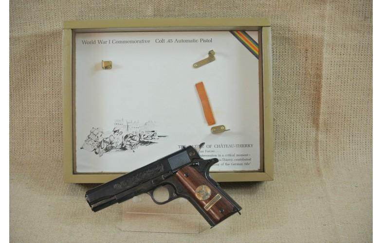 """ VERKAUFT "" Halbautomatische Pistole Colt, Mod. 1911 Commemorative BATTLE OF CHTEAU-THERRY, Kal. .45Auto."
