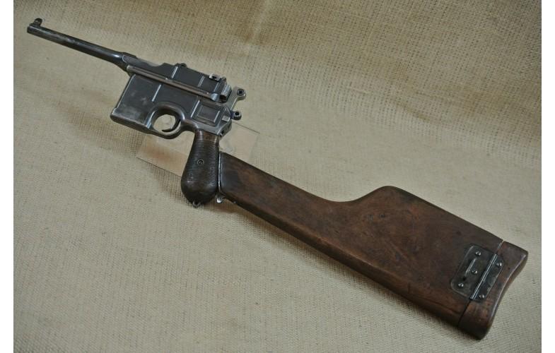 Halbautomatische Pistole, Mauser Mod. C 96,  Kal. 7,63 mm Mauser inkl. nrgl. Anschlagkasten