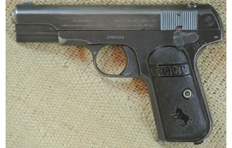 """"""" VERKAUFT """" Halbautomatische Pistole Colt Mod. 1903 Hammerless, Kal. .32 ACP, Baujahr 1911"""