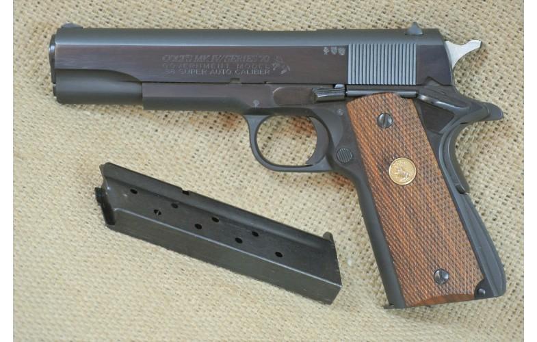 """ VERKAUFT "" Halbautomatische Pistole, Colt Mod. Goverment (1911) , Kal. .38 Super Auto"