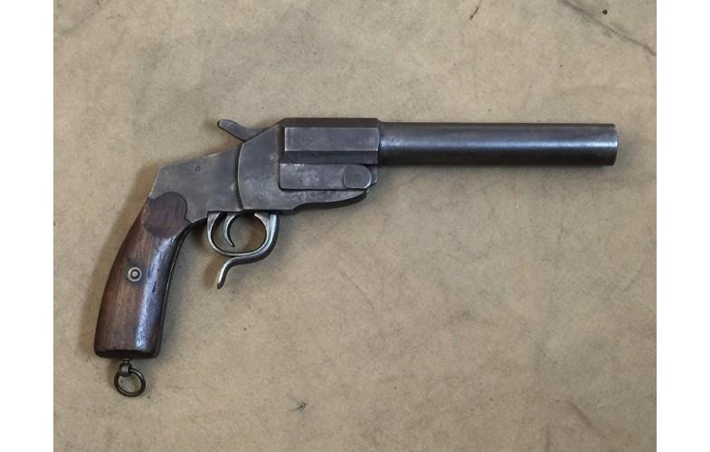 Einläufige Signalpistole GM (Merkel), Modell Hebe,l Kal. 4