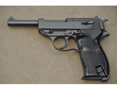 Halbautomatische Pistole, Walther cyq (Spreewerke) Mod. P 38, Kal. 9 mm Luger.
