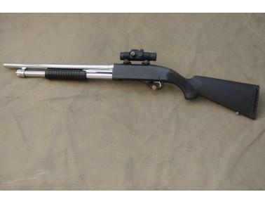 !! VERKAUFT !! Vorderschaftrepetierflinte, Winchester Mod. 1300 Stainless Marine, Kal. 12/76.