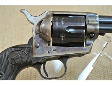 Revolver, Colt Mod. 1873,  4 3/4 Zoll Lauf , Kal. .45 Colt, Baujahr 1958, mit Original Hollywood Holster aus dieser Zeit.